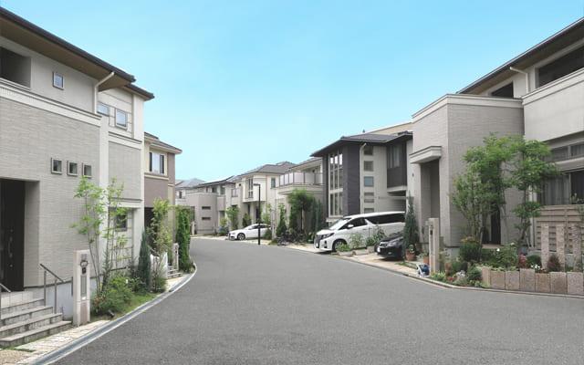 家が立ち並ぶ住宅